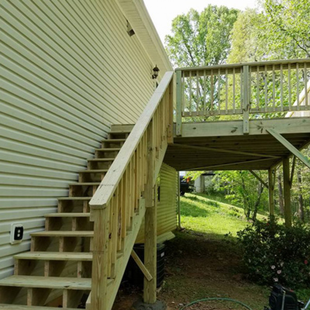 deck stair installation jasper ga